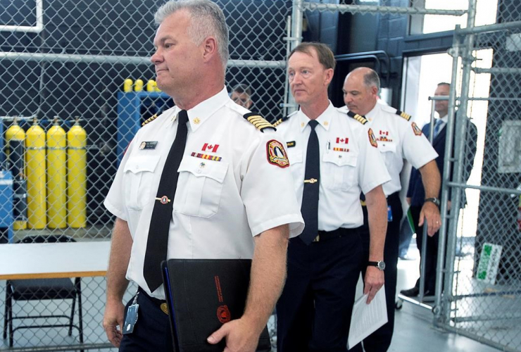 Halifax Fire and Emergency Chief Ken Stuebing, Deputy Chief Dave Meldrum, Deputy Chief Peter Andrews,