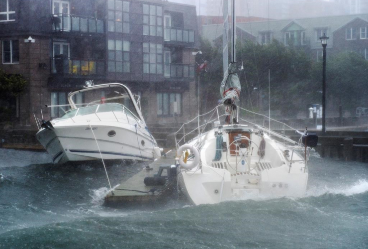 Pleasure boats, Halifax, hurricane Dorian,