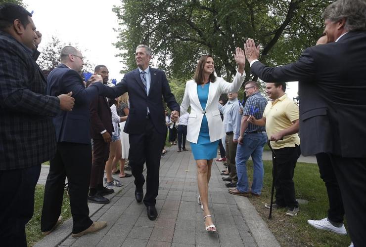 Manitoba Premier Brian Pallister, wife Esther,