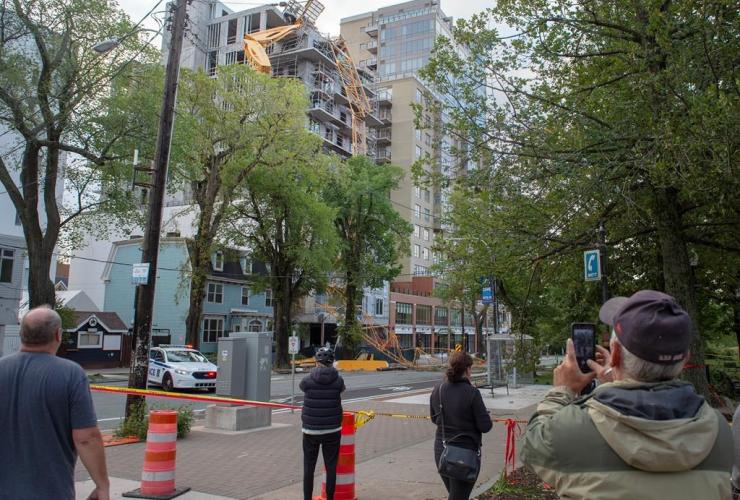 building crane, construction project, Halifax,