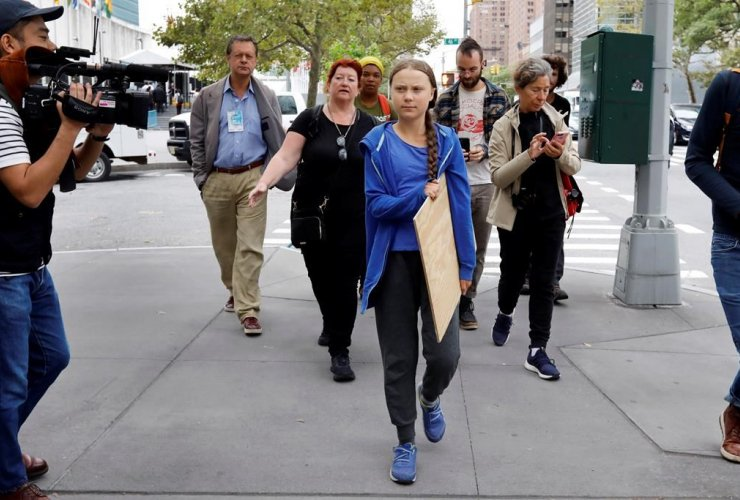 Swedish environmental activist, Greta Thunberg,