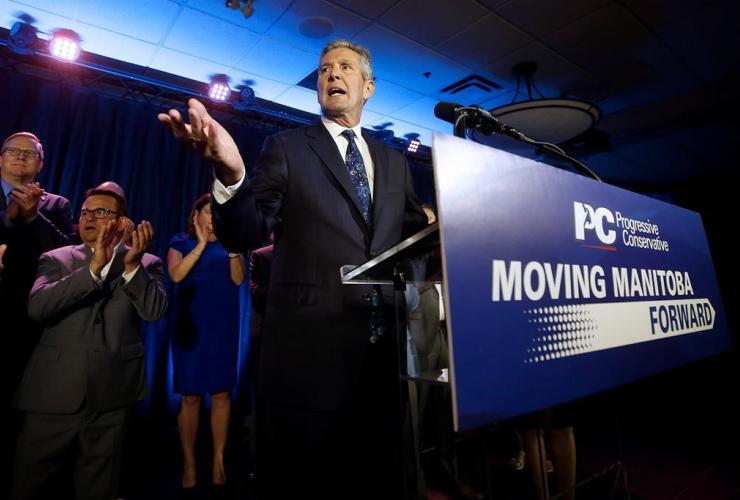 Manitoba PC leader, premier Brian Pallister,