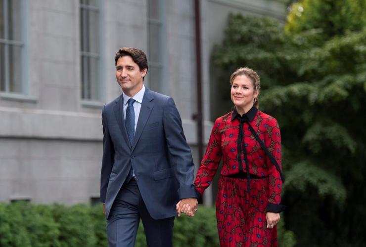 Prime Minister Justin Trudeau, Rideau Hall, wife, Sophie Gregoire Trudeau, Governor General Julie Payette, Ottawa,