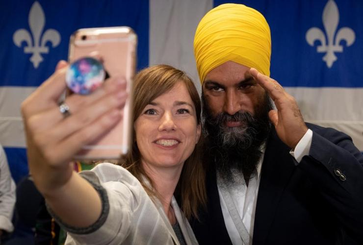 NDP leader Jagmeet Singh, campaign stop, Sherbrooke, Que.,