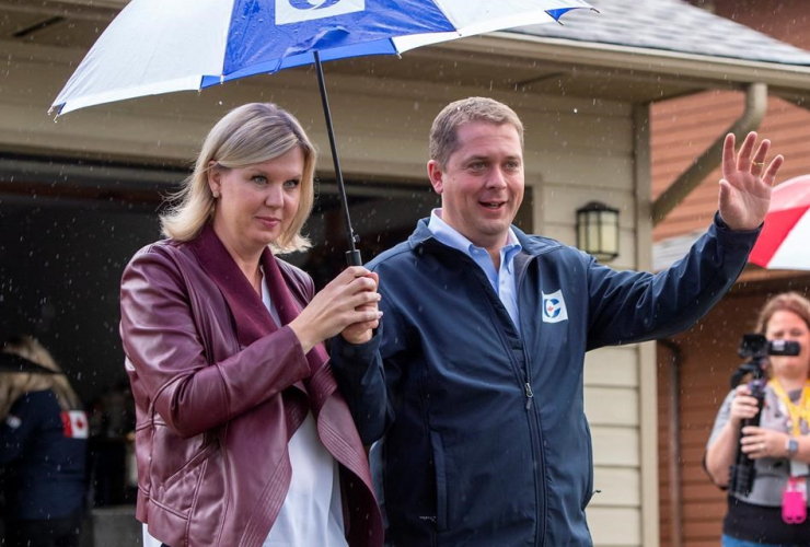 Federal Conservative leader Andrew Scheer, wife Jill,