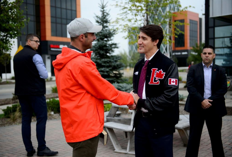 Liberal Leader Justin Trudeau, voter, Kitchener,