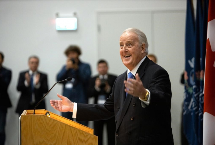 Former Prime Minister Brian Mulroney, Brian Mulroney Institute of Government, St. Francis Xavier University, Antigonish,