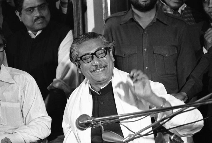 Sheikh Mujibur Rahman, Dacca, Bangladesh,