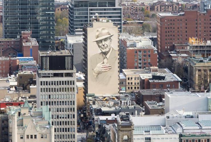 mural, poet, songwriter, Leonard Cohen,