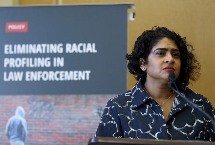chief commissioner of the Ontario Human Rights Commission, Renu Mandhane,