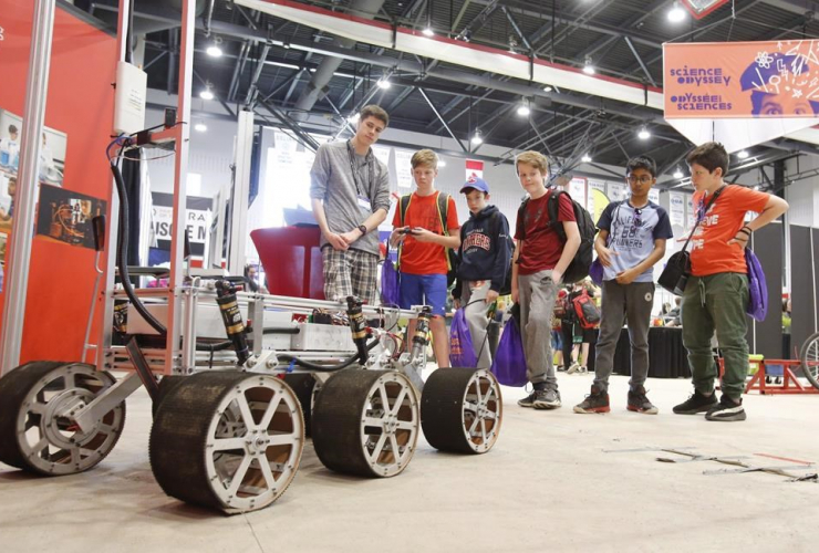 Students, robotic rover, Canada-Wide Science Fair, Carleton University,