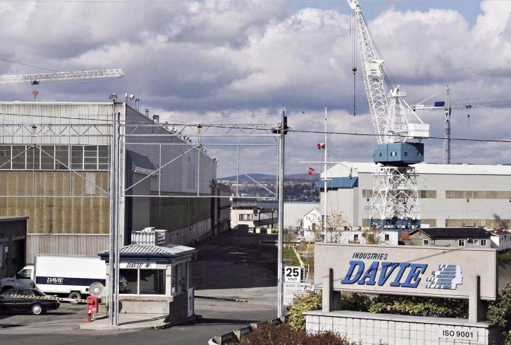 Davie shipyard, Levis, Que.,