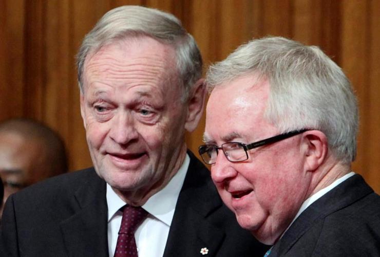 Former prime ministers, Jean Chretien, Joe Clark