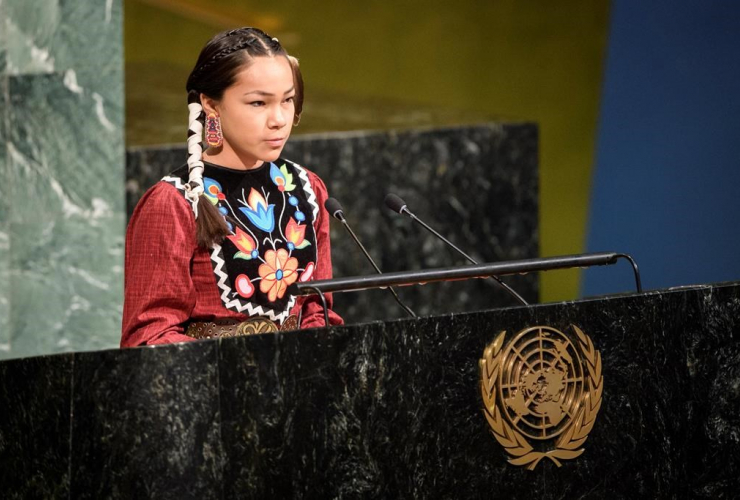 Autumn Peltier, teenage activist, Wiikwemkoong First Nation, Manitoulin Island, United Nations General Assembly,