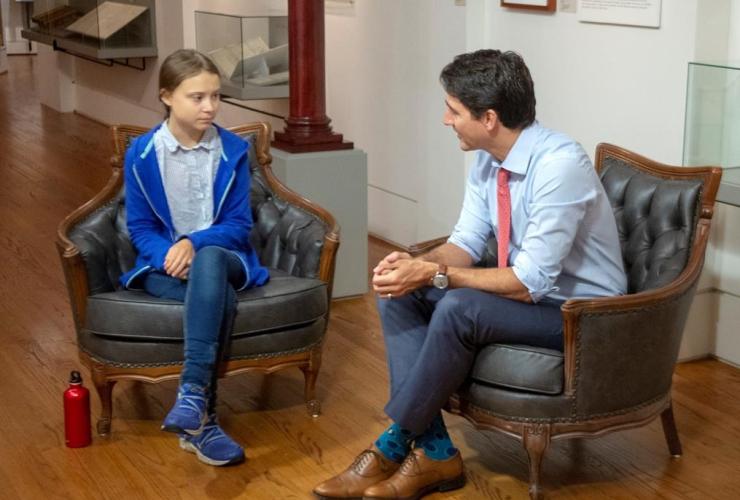 Canadian Prime Minister, Liberal leader Justin Trudeau, Swedish environmental activist, Greta Thunberg,