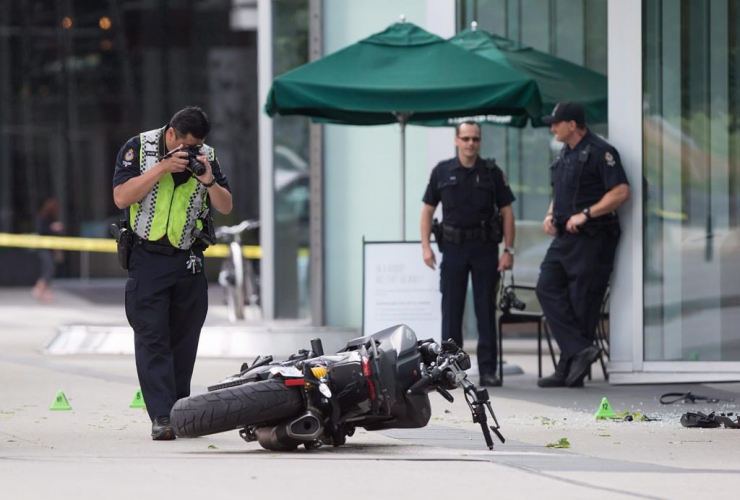 police officer, photographs, motorcycle, female stunt driver, Deadpool 2, died,