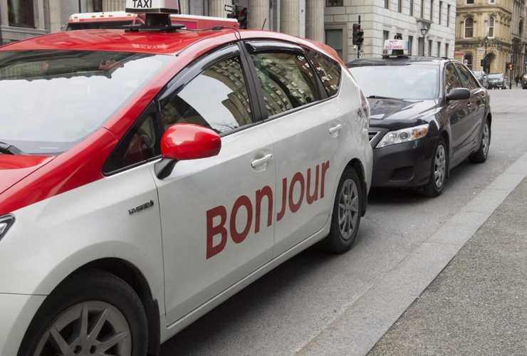 taxi, Bonjour, Montreal,