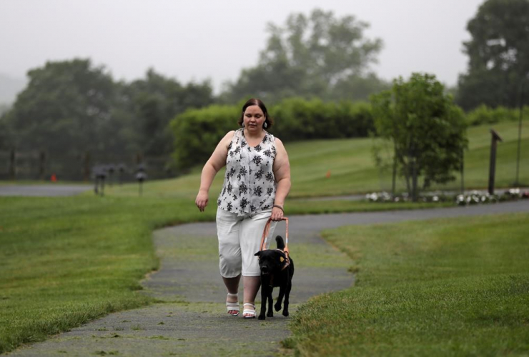 Michelle McQuigge, black lab Lucy, The Seeing Eye, training walk,
