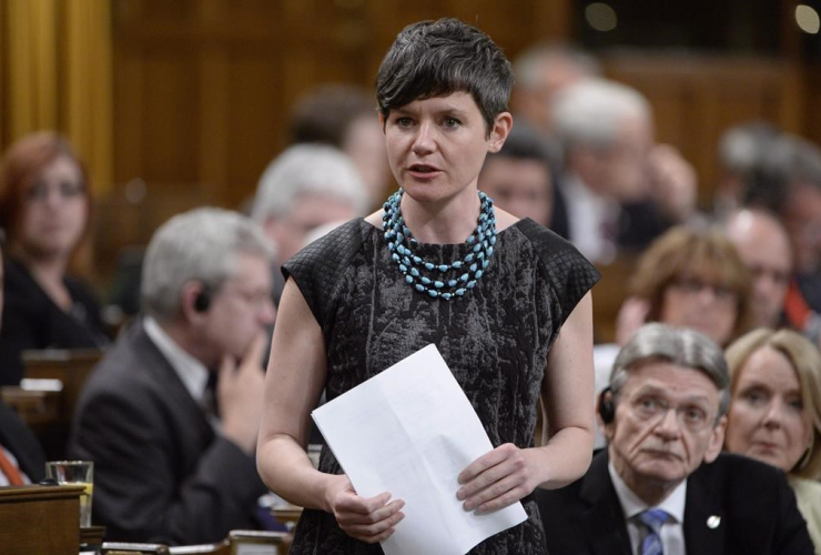 NDP MP Megan Leslie, Question Period, House of Commons, Ottawa,
