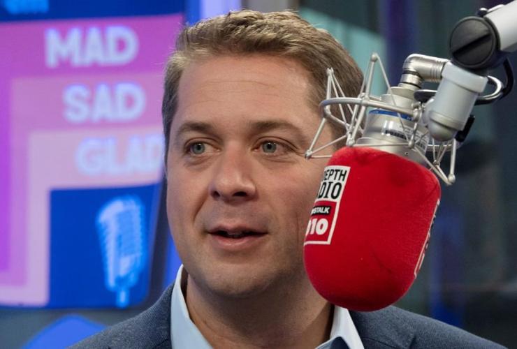 Conservative Leader Andrew Scheer, radio interview,  Toronto,