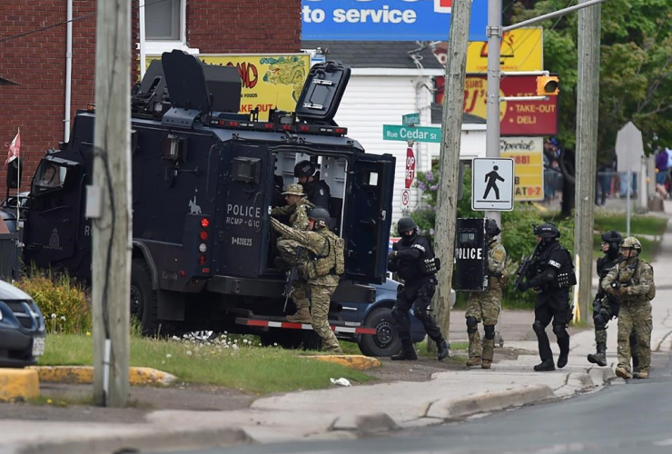 Emergency response officers, Moncton, N.B.,