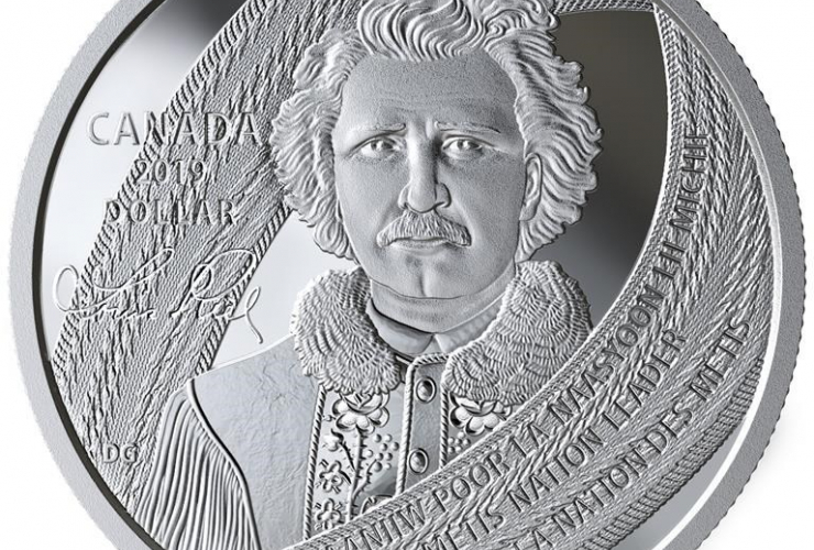special edition coin, Louis Riel,