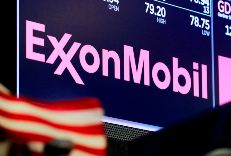 logo, ExxonMobil, trading post, New York Stock Exchange,