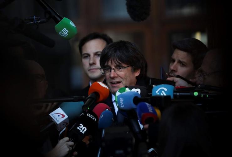 Catalonia's former regional president, Carles Puigdemont,