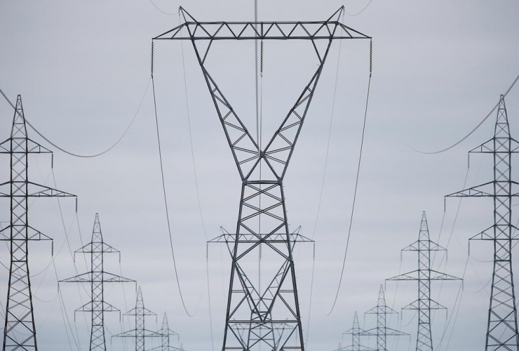 Manitoba Hydro power lines,