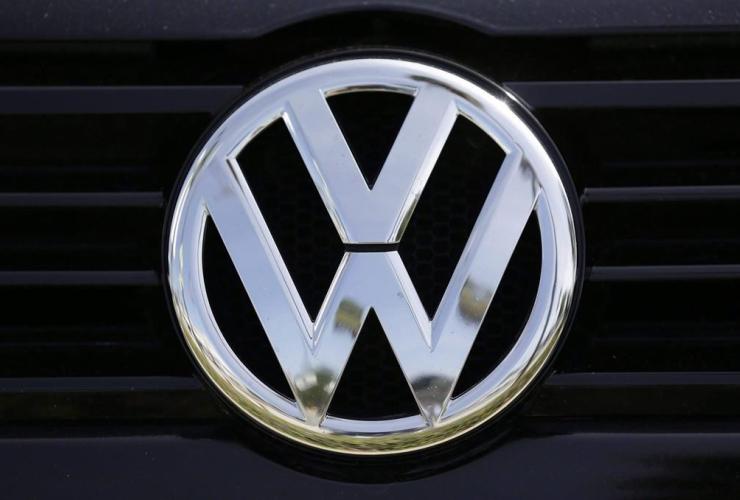 Volkswagen logo, New Century Volkswagen dealership, Glendale,