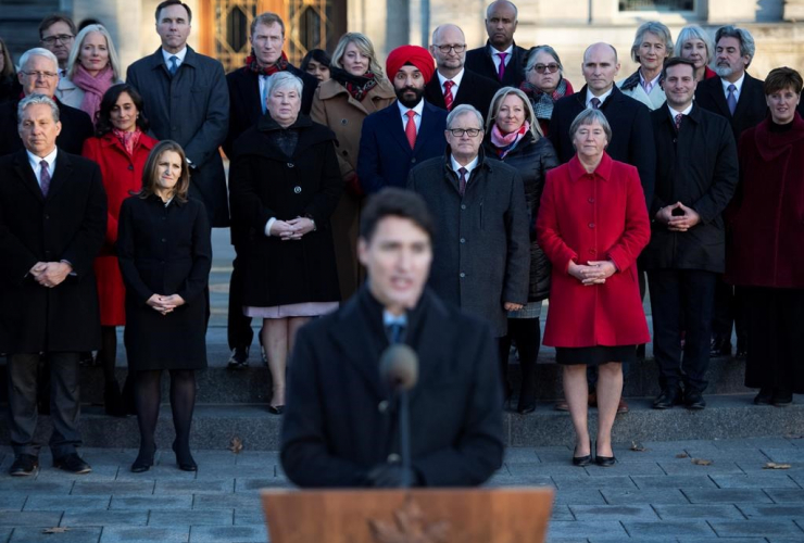 Members of cabinet, Prime Minister Justin Trudeau,