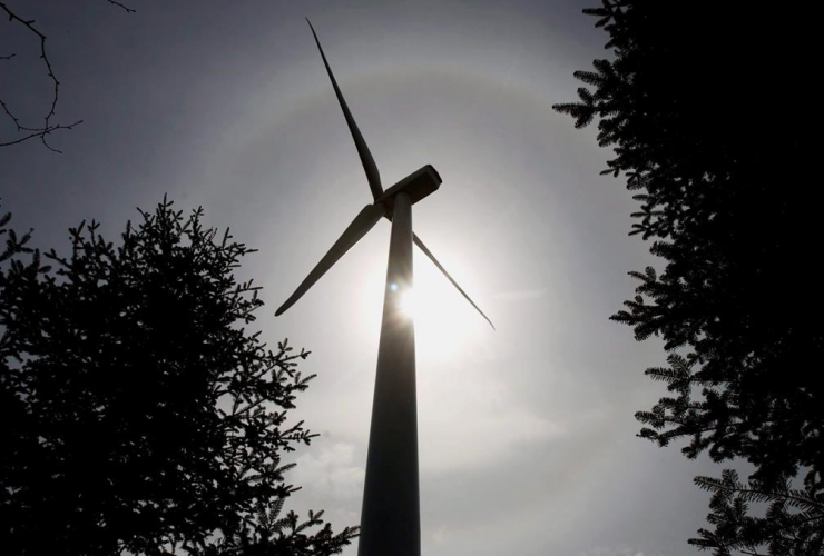 wind turbine, Dalhousie Mountain,