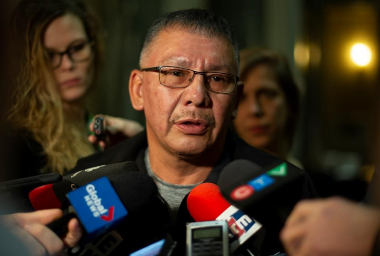 Chief Ron Mitsuing, Makwa Sahgaiehcan First Nation,