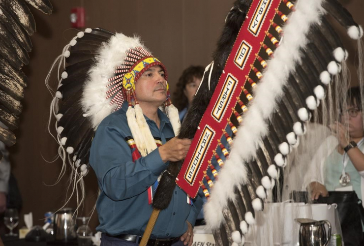 National Chief of the Assembly of First Nations, Perry Bellegarde,