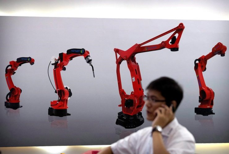 manufacturing robots, Chinese robot maker Honyen, World Robot Conference, Beijing, China,
