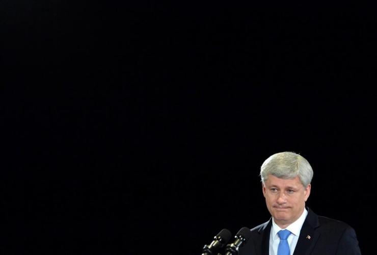 Conservative leader Stephen Harper,