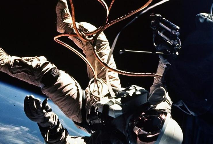 Astronaut Ed White, Gemini 4 capsule,