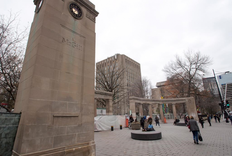 Roddick Gates, Roddick Memorial Gates, main entrance, McGill University campus,