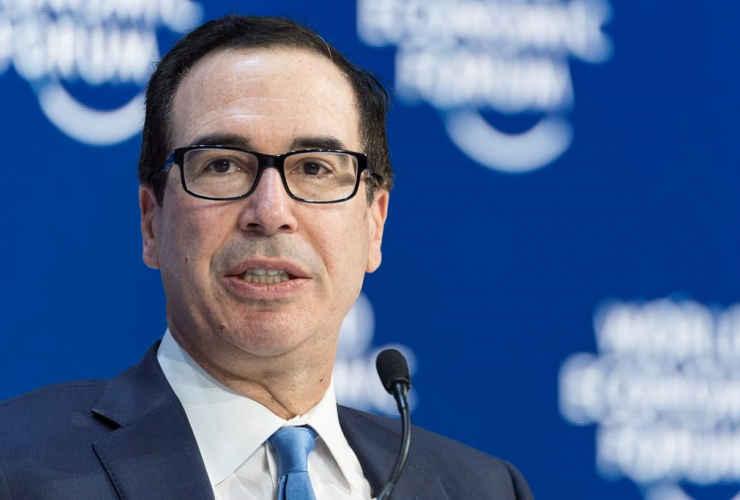 Steven Mnuchin, Secretary of the Treasury of the United States, World Economic Forum, Davos, Switzerland,