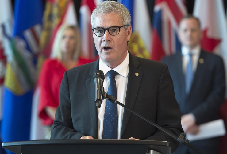 Nova Scotia Environment Minister Gordon Wilson,