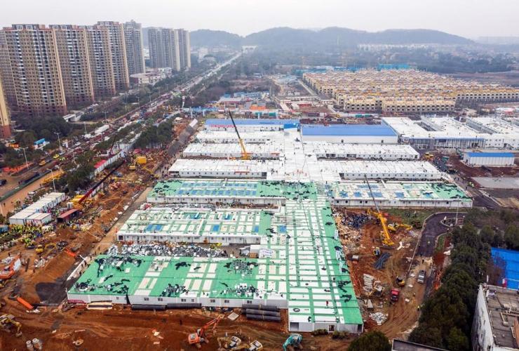 Huoshenshan, temporary field hospital, Wuhan, China, Hubei Province,