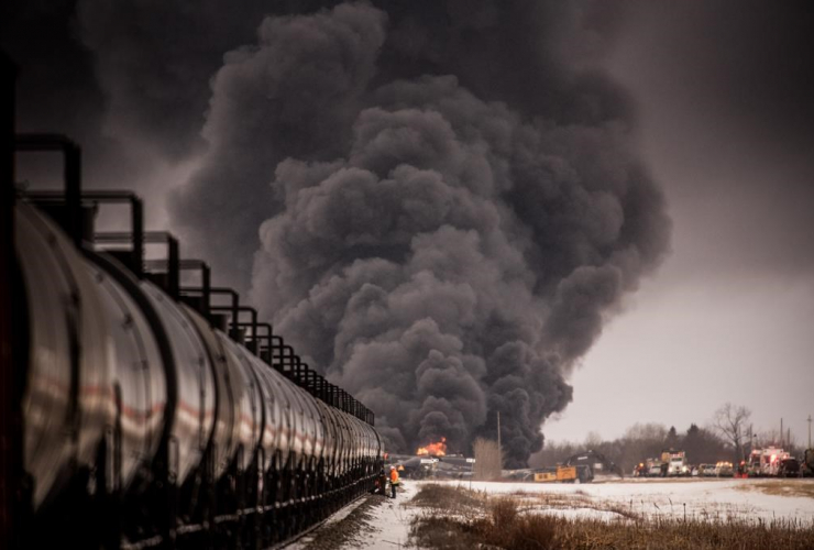 derailed, Canadian Pacific Railway, train, Guernsey, Sask.,