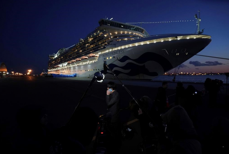 Diamond Princess cruise ship, Yokohama Port,