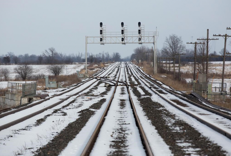 train tracks, Tyendinaga Mohawk Territory,