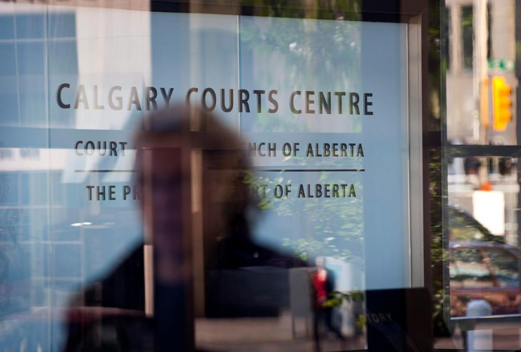 An entrance to the Calgary Courts Centre is shown in Calgary on Friday, Aug. 27, 2010. File photo by The Canadian Press/Jeff McIntosh