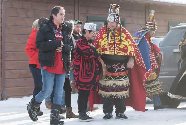 Wet'suwet'en hereditary chiefs, Mohawk leaders, Kahnawake Mohawk Territory,