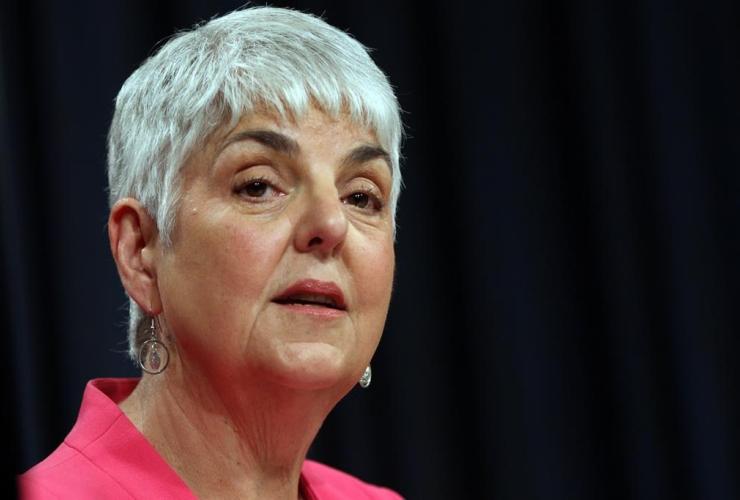 Finance Minister Carole James,