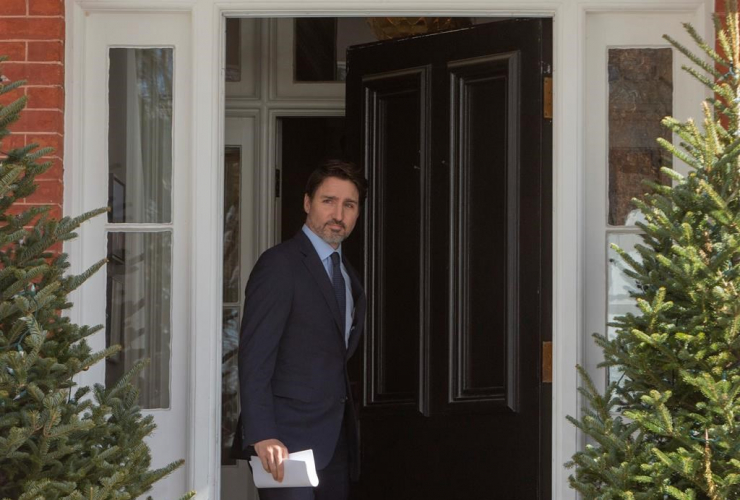 Prime Minister Justin Trudeau, Rideau Cottage, news conference,