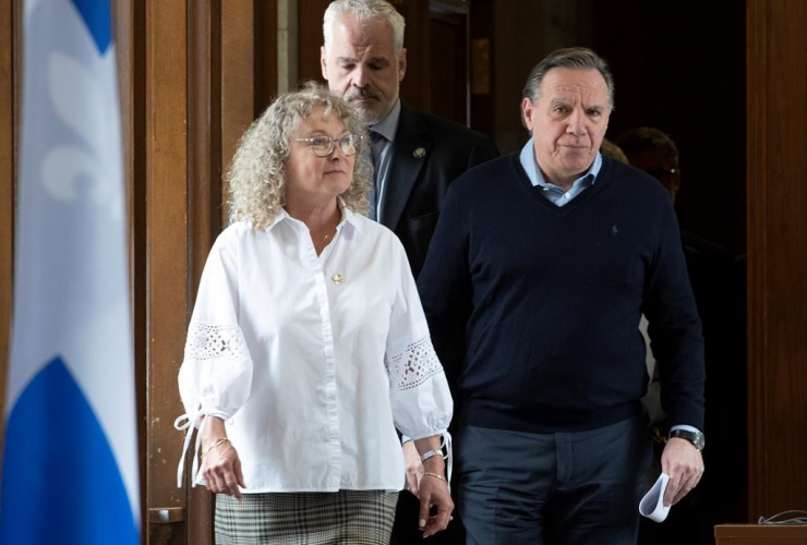 Quebec Premier Francois Legault, Quebec Minister Responsible for Seniors and Informal Caregivers, Marguerite Blais,