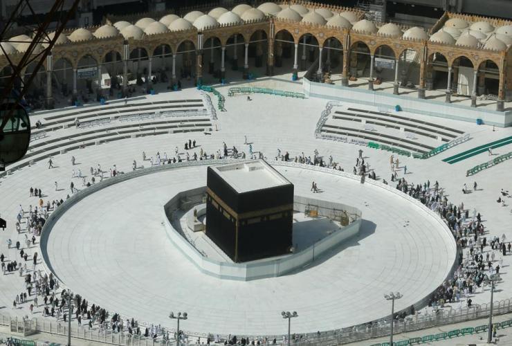 Muslims, Kaaba, Grand Mosque, Mecca, Saudi Arabia,
